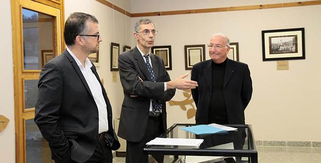 François Geronimi, directeur des interventions départementales du conseil général de Haute-Corse, Dominique Devaux,  Dominique Devaux, conservateur des archives départementale et Jean-Baptiste Raffalli