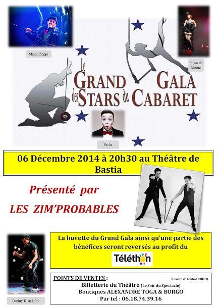"""Bastia : Le grand gala des """"stars du cabaret"""" en faveur du Téléthon"""
