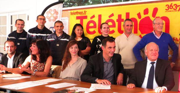 L'AFM-Téléthon, les élus bastiais et les partenaires.
