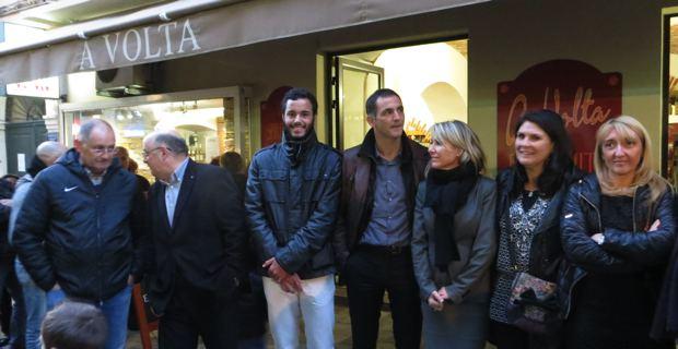 Laurent Lokoli, Gilles Simeoni et les élus bastiais.