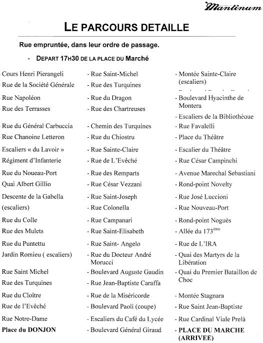 Spassighjata in Bastia : Routes fermées