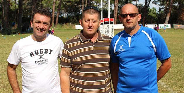 Alain Del Moro au centre avec Stéphane Labarrère (à gauche) et Sam Lacombe