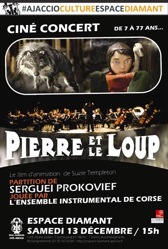 Ciné-concert : Pierre et le loup à l'Espace Diamant