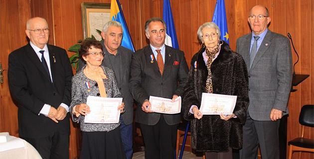 Trois représentants du Souvenir Français honorés à L'Ile-Rousse