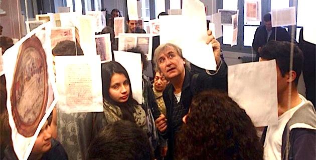 Plantu rend visite aux élèves du lycée Pascal Paoli de Corte