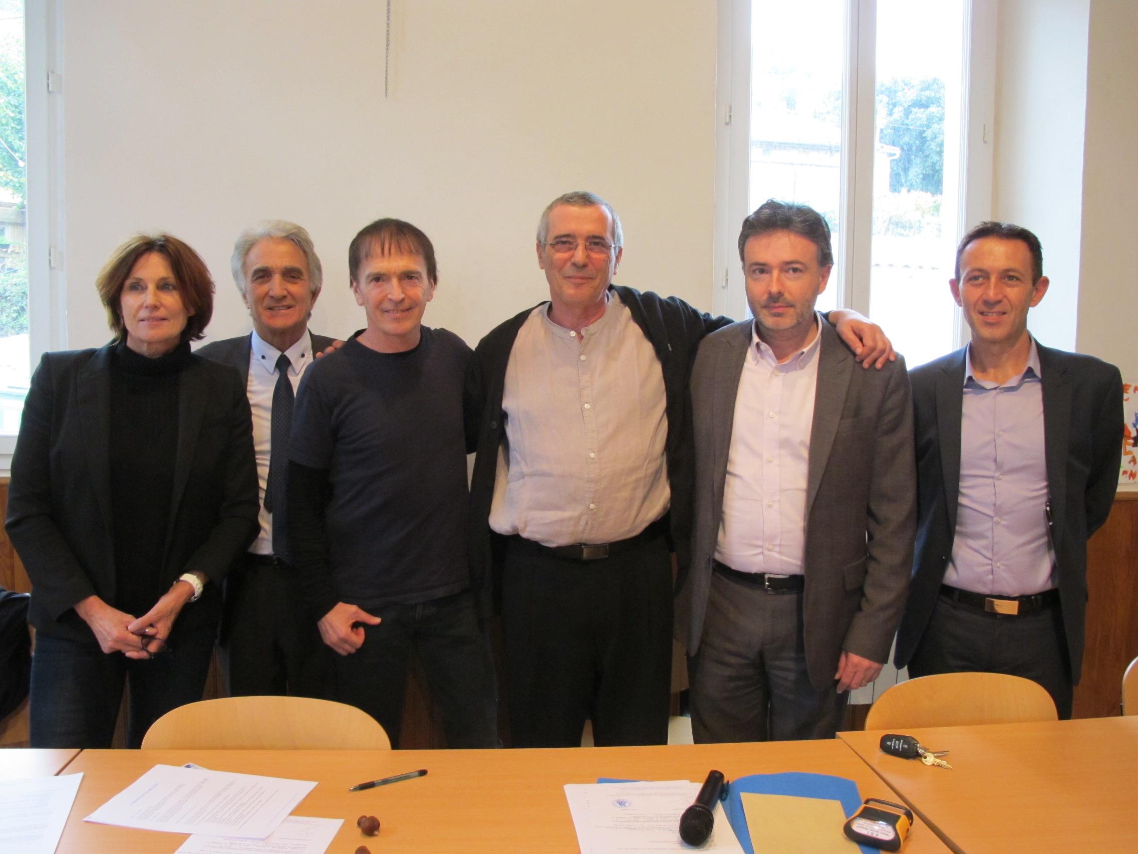 Armelle Sialelli, François Dominici, Jean-François Bernardini, Pierre-François Bellini, Jean-Louis Luciani, Noël Sarrola