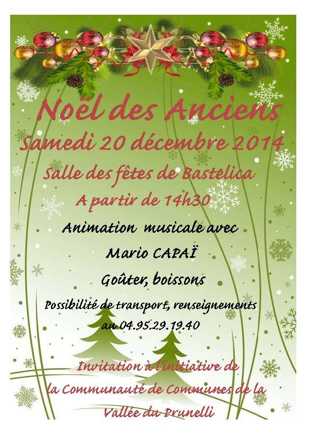 Fête de Noël des anciens de la communauté des communes de la vallée du Prunelli