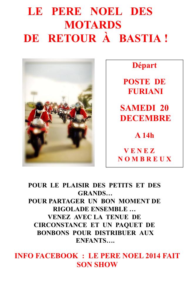 Le Père Noël des motards de retour à Bastia