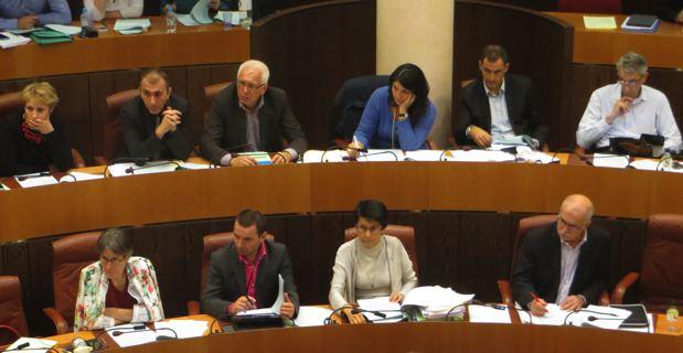 Le groupe Femu a Corsica à l'Assemblée de Corse.