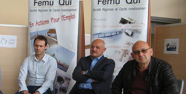 Jean-Nicolas Antoniotti (au centre) en compagnie de Ghjuvan'Carlu Simeoni et Jean-François Stefani.