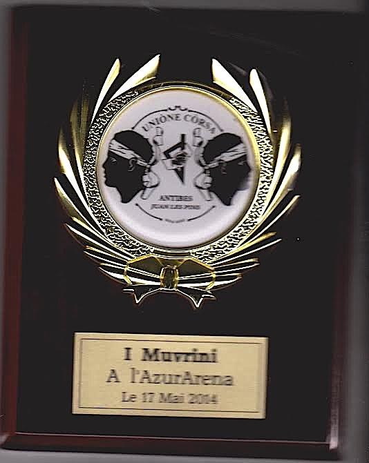 Remise de trophées à l'Unione Corsa d'Antibes