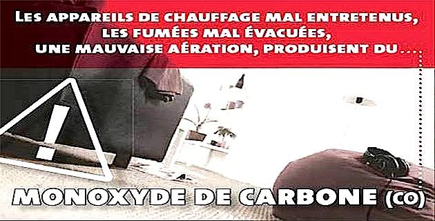 Froid : Attention au monoxyde de carbone