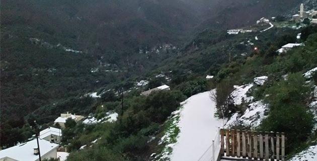 Météo : Encore des chutes de neige et des vents forts en Haute-Corse !