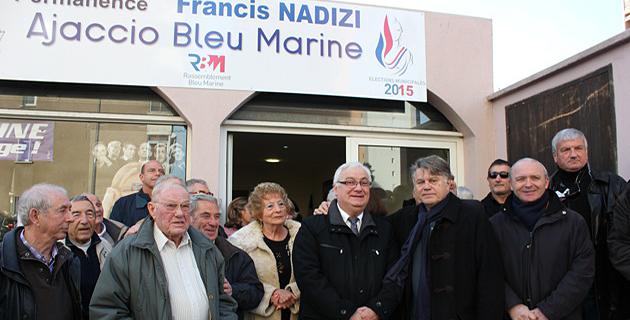 Ajaccio : Gilbert Collard en visite à la permanence du Rassemblement Bleu Marine