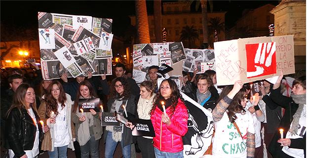 Charlie Hebdo : Des milliers de Bastiais dans la rue