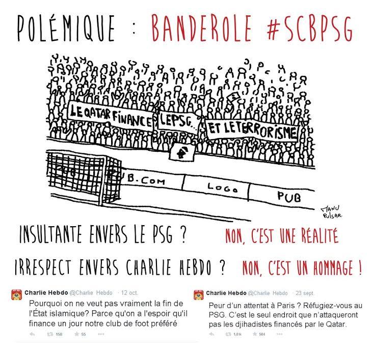 Polémique du jour : La banderole d'avant SCB-PSG