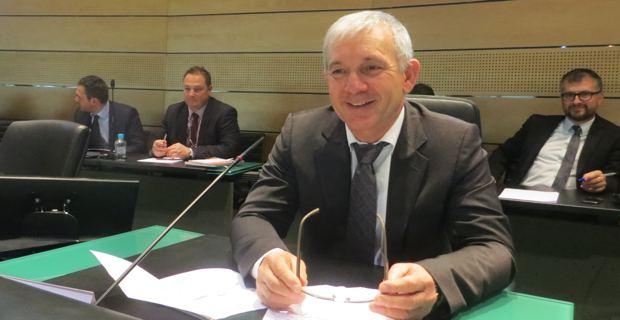 François Orlandi, conseiller général du canton de Capo Bianco et maire de Tomino, nouveau président du Conseil général de Haute-Corse pour deux mois.