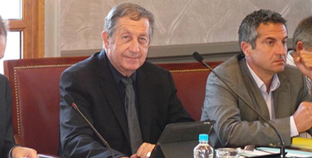 """Paul Trojani (à gauche) avec Philippe Albertini, directeur de la CCIT2B : """" Air France continue d'asphyxier Bastia"""""""