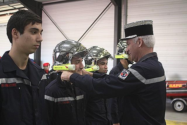 Calvi : Cérémonie de remise de casque pour les jeunes sapeurs-pompiers de Haute-Corse