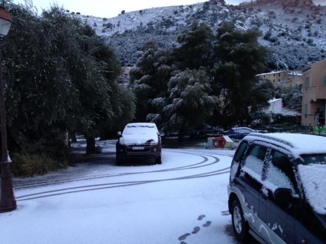 Les villages de Balagne se sont réveillés sous la neige