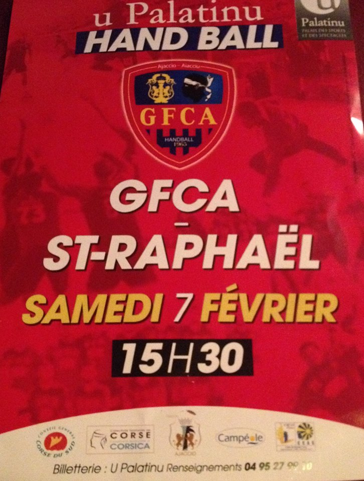 Hand ball : Le GFCA reçoit Saint-Raphaël au Palatinu