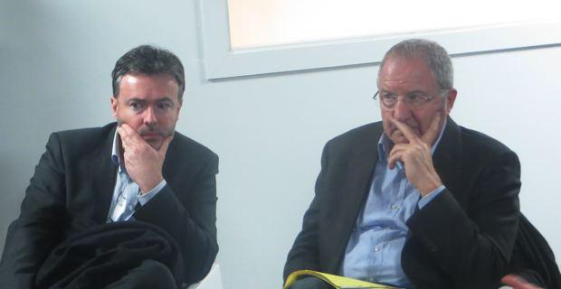 Jean-Louis Luciani, président de l'ODARC, et Jean-Marc Venturi, président délégué de la chambre d'agriculture de Haute-Corse, au Domaine Vico.
