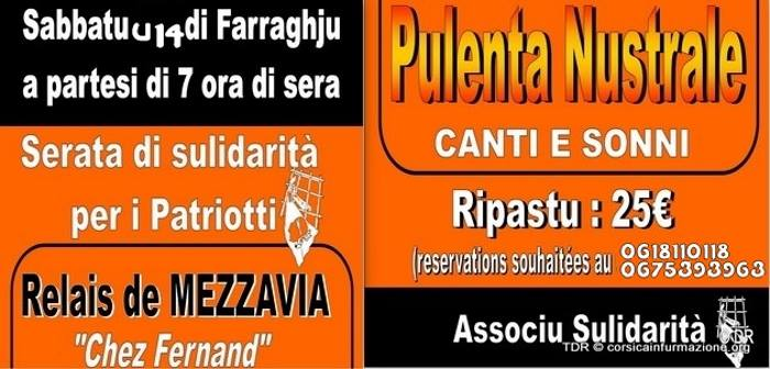 Mezzavia : Soirée Pulenta Nustrale organiséz par l'Associu Sulidarità