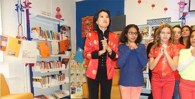 Comme l'an dernier Xin Devichi (professeur de chinois mandarin)  a célébré le Nouvel An avec ses élèves