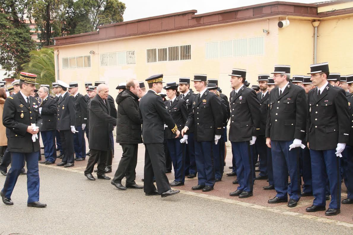 Caserne Bacchiochi : Hommage aux morts de la Gendarmerie