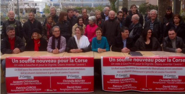 """""""Un souffle nouveau pour la Corse"""" a présenté ses candidats pour les Départementales"""