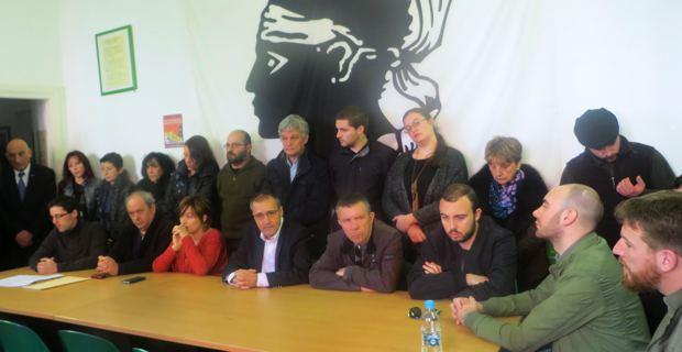 Corsica Libera lors d'une récente réunion à Bastia