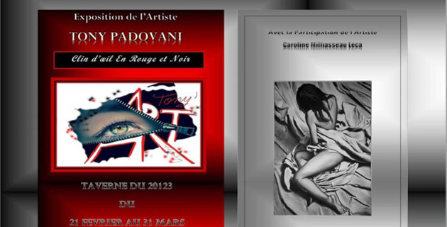 Tony Padovani et Caroline Milliasseau-Leca exposent leurs toiles à la Taverne du 20123