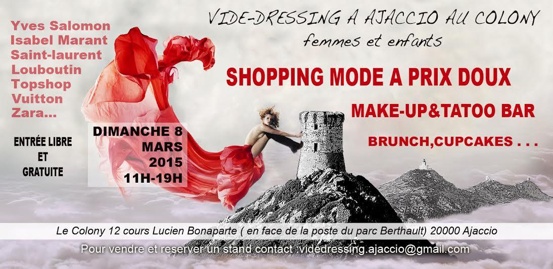 Vide-dressing mode le 8 mars à Ajaccio