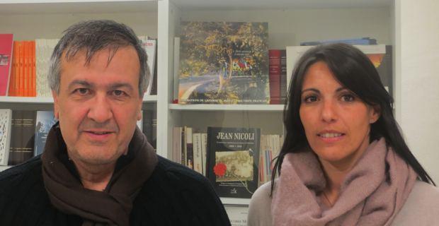 Michel Stefani, conseiller territorial Front de Gauche, président des Chemins de fer de la Corse, et Julie Boccheciampe, militante associative et commerçante.