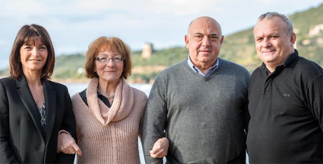 Adrienne Patacchini, Lucie Frimigacci, François Colonna et Charles Chiappini