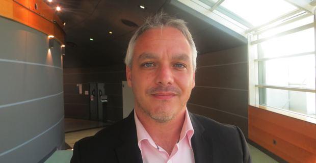 Pierre Siméon de Buochberg, conseiller général sortant et maire de Prunelli-di-Fiumorbu, candidat dans le canton de Fiumorbu-Castellu en Haute-Corse, lors des élections départementales des 22 et 29 mars prochain.