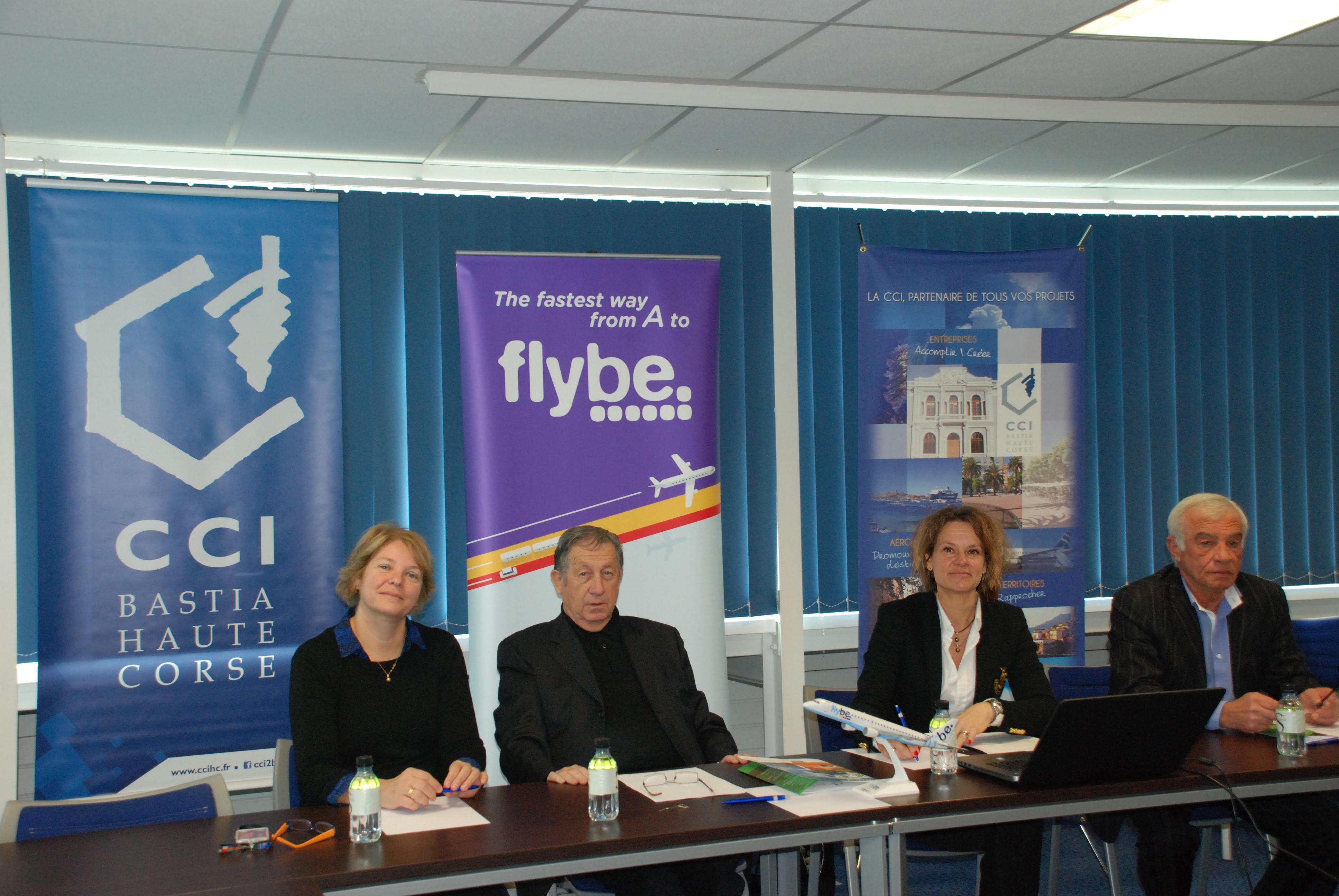 La CCI et la compagnie Flybe ont présenté à la presse les deux nouvelles dessertes aériennes