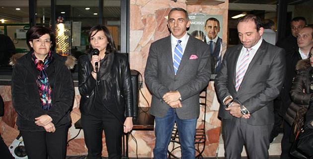Valérie Bozzi et Marcel Francisci entourés de leurs suppléants Nora Ettori Maire de Cardo-Torgia et Jean-Luc Millo Maire d'Olivese