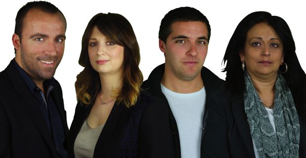 Sébastien Quenot, Paula Susini, Pasquale Rossi et Christelle Giorgetti.