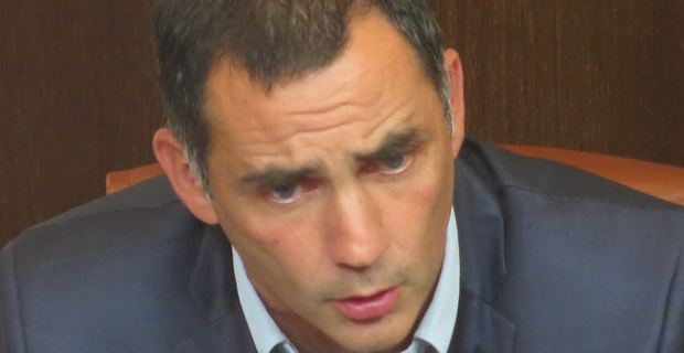 Gilles Simeoni, conseiller territorial de Femu a Corsica et maire de Bastia.