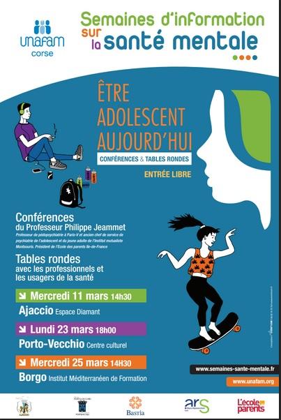 Semaine d'Information sur la santé mentale: Conférences et débats sur toute la Corse