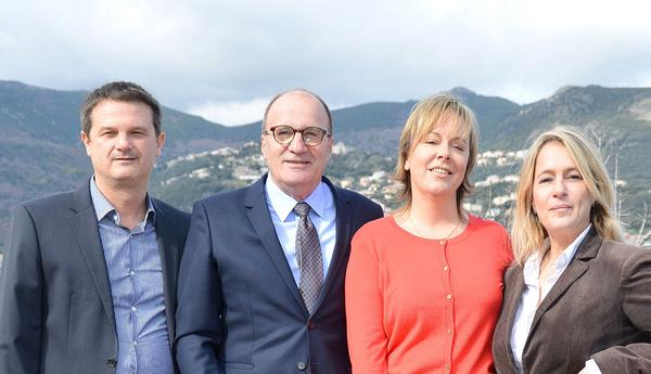 Emmanuel Petri-Guasco, Michel Rossi, Vanina Le Bomin et Isabelle Prosperi.
