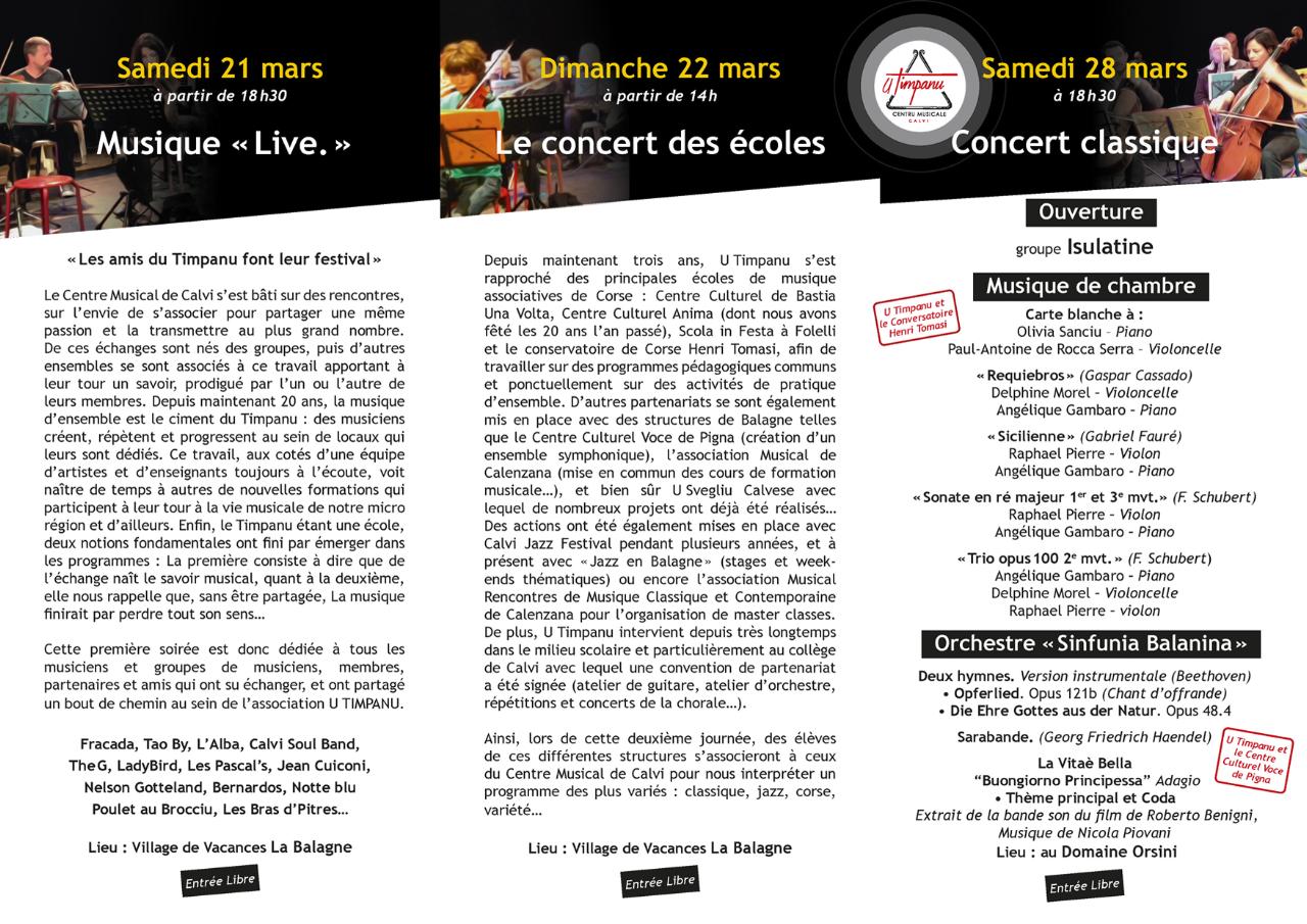 L'école de musique  de Calvi U Timpanu fête ses 20 ans
