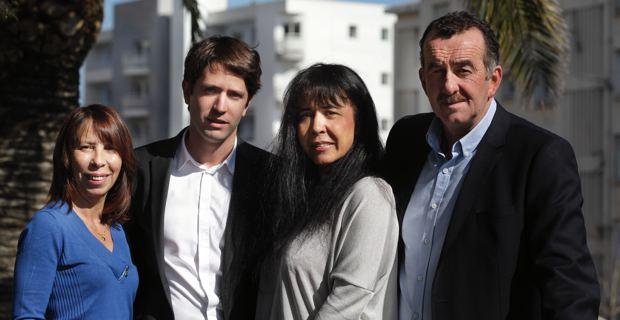 Les quatre candidats de majorité municipale dans le canton de Bastia III : Nicole Barseni, Joseph Savelli, Marie-Claire Poggi et Joseph Gandolfi. Photo copyright ©murzA.