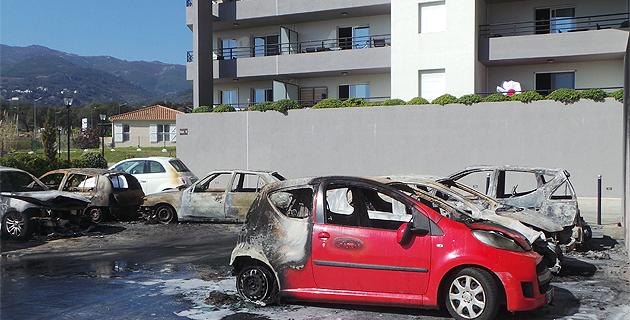 Voiture brûlées à Bastia : Deux personnes ont été placées en garde à vue