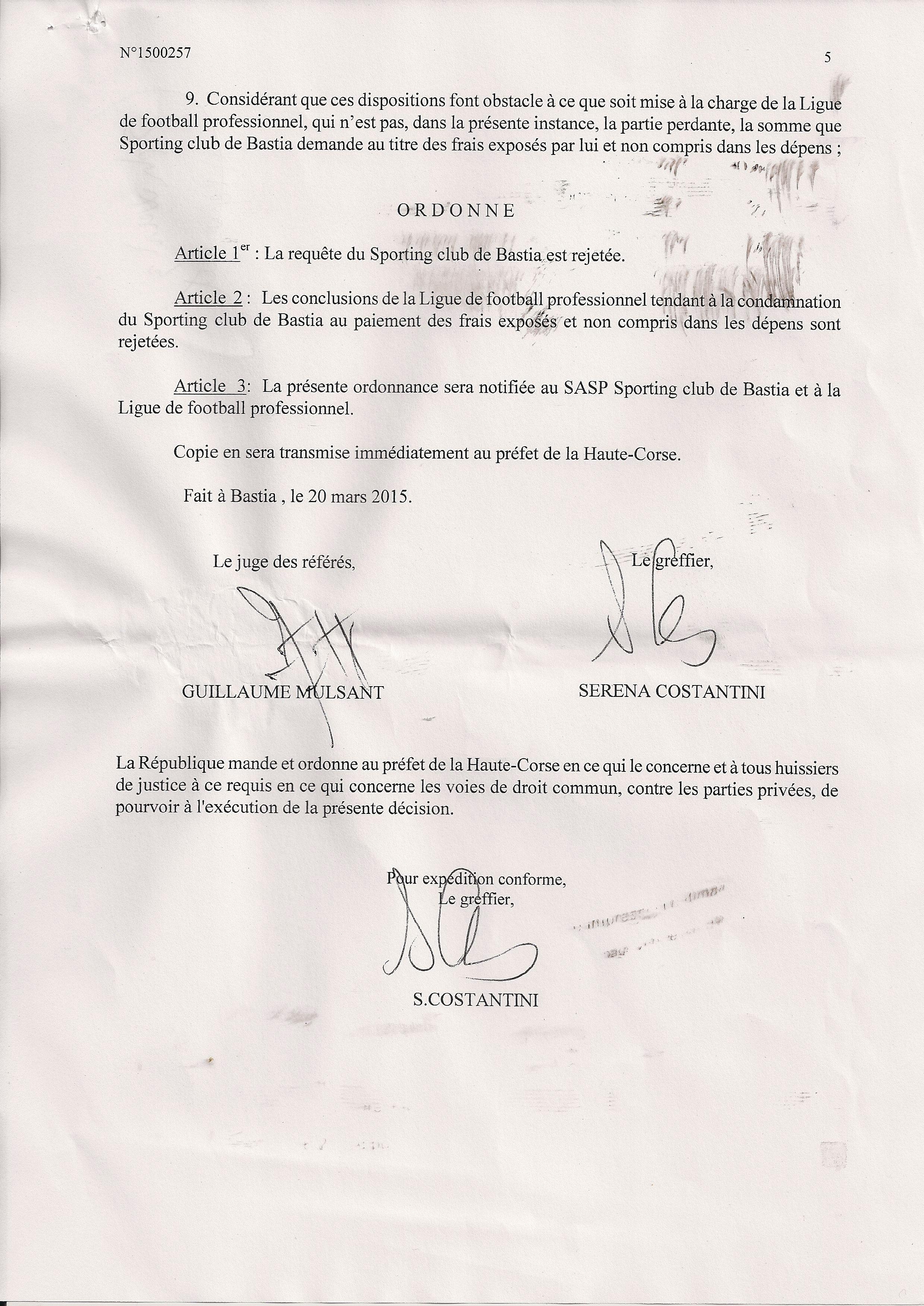 Sporting-Guingamp se jouera à Istres : Le référé-suspension du club rejeté
