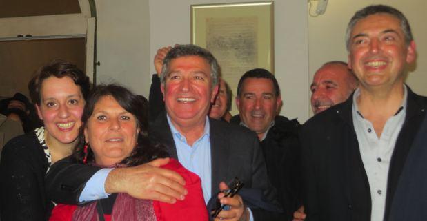 Le binôme de la majorité municipale, Jean-Louis Milani-Anne Avenoso, élu à Bastia.