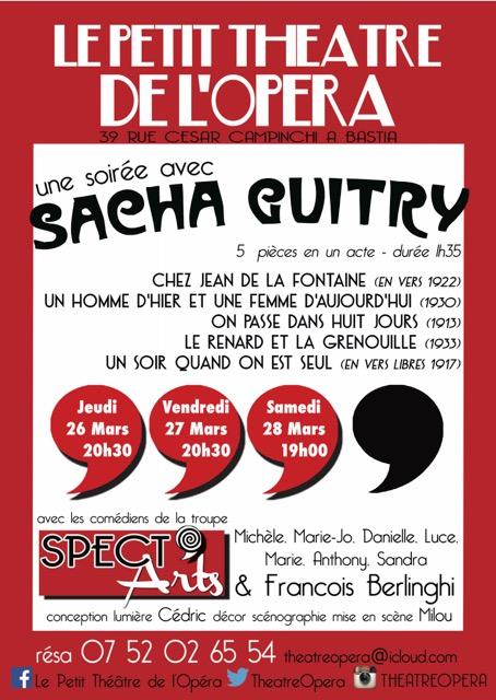 """Bastia : """"Une soirée avec Sacha Guitry"""" au Petit Théâtre de l'Opéra"""