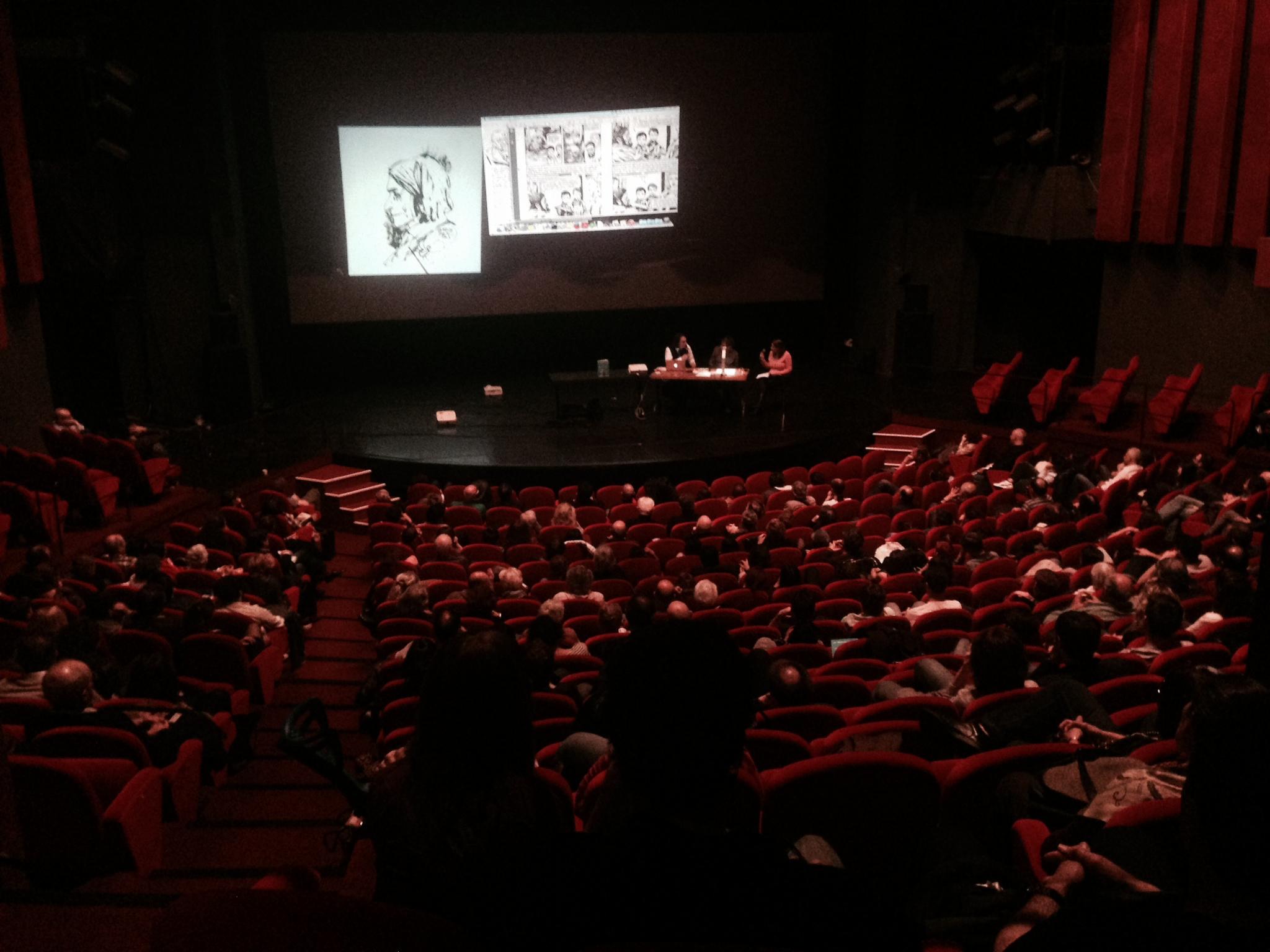 Edmond Baudoin et Cédric Villani au théâtre