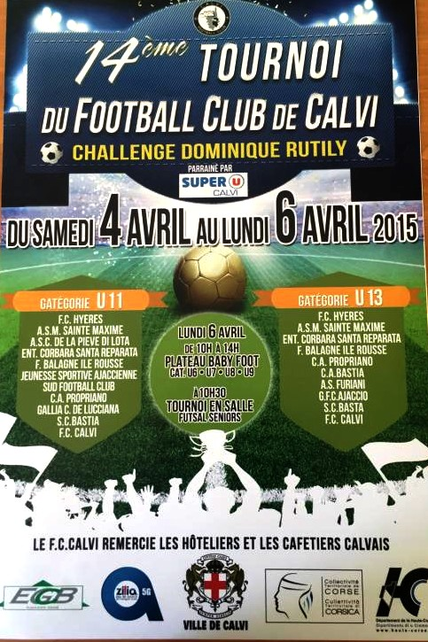 14ème tournoi de football du FC Calvi-Challenge Dominique Rutily